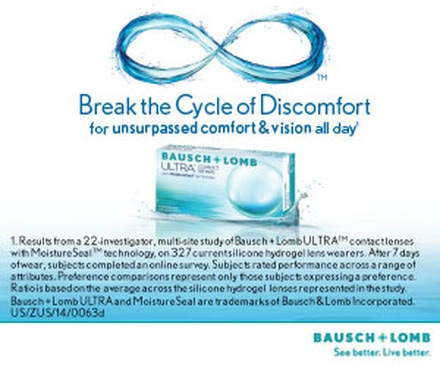 B & L Ultra Contact Lenses